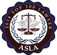 2018 Top 100 Lawyers | ASLA seal