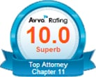 Avvo Rating 10.0 Superb Top Attorney Chapter 11 seal
